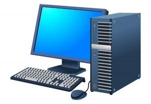 デスクトップパソコン-黒