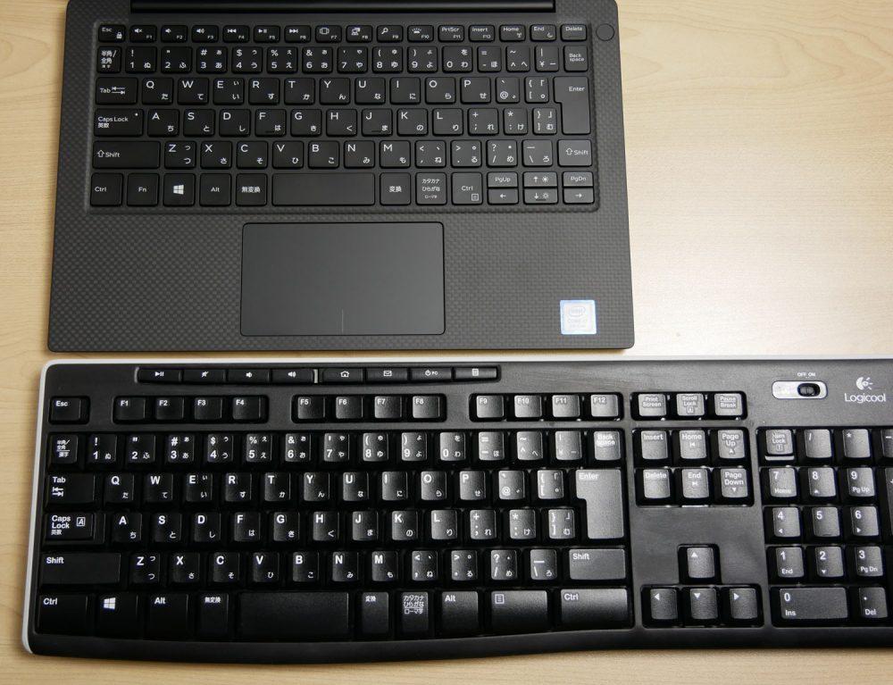 フルサイズのキーボードとの比較