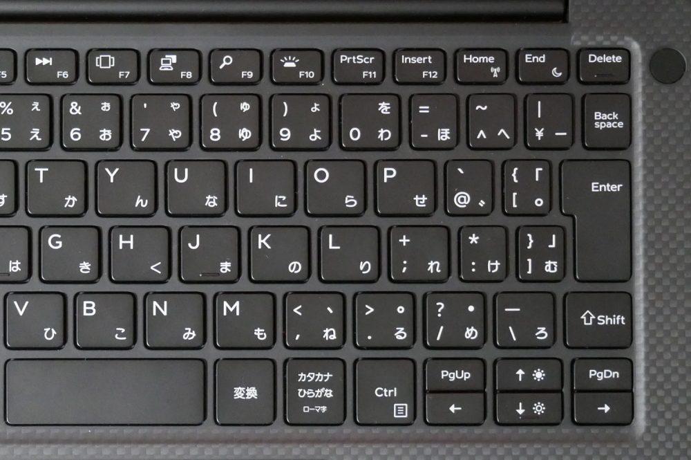 キーボードアップ画像:右