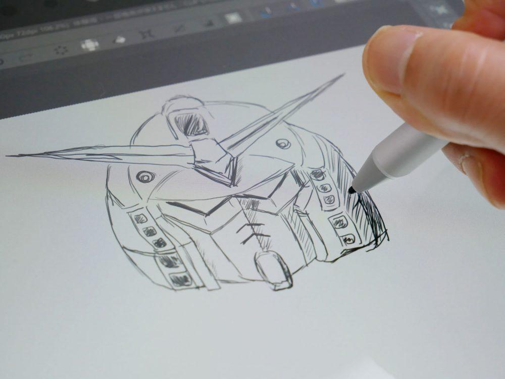 付属のSurface Penでイラストも
