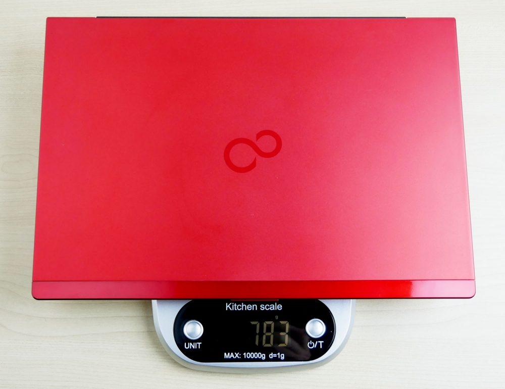 富士通 LIFEBOOK WU2/C2 の重さ実測