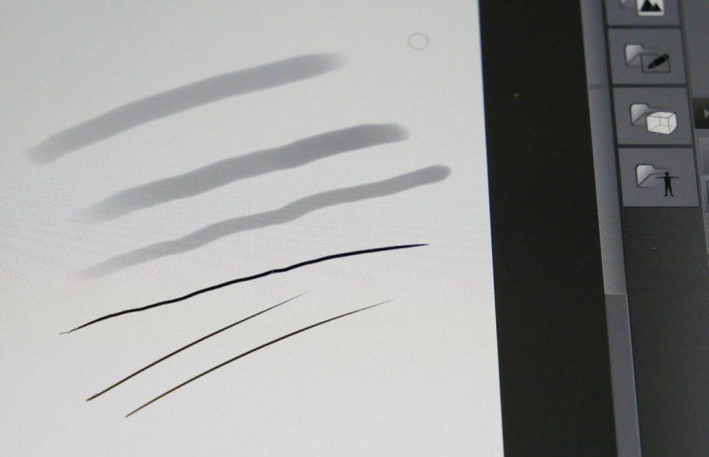 ペンで強弱をつけてみたところ