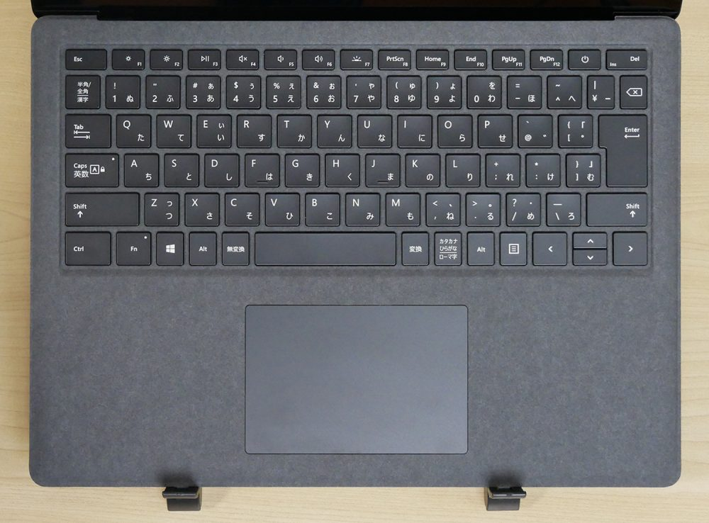 Surface Laptop 2のキーボード