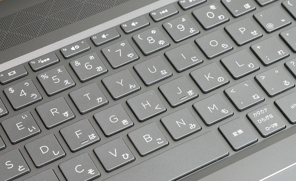 Keyboard up from diagonally above