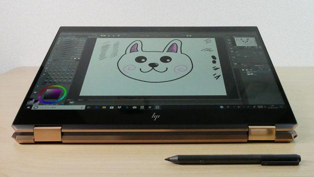 アクティブペンでイラストを描いたところ