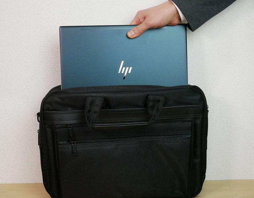HP Spectre x360 13をビジネスバッグに入れてみたところ