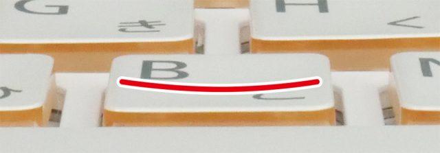富士通 LIFEBOOK WA3/D1のキーボードのキートップ