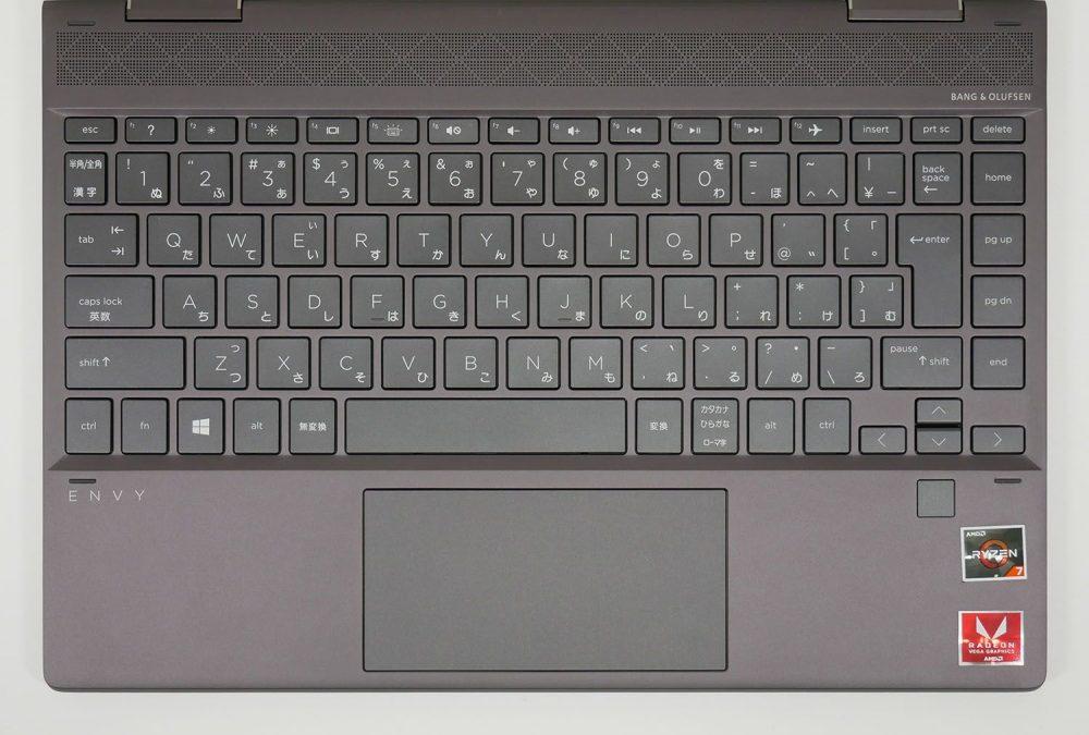 HP ENVY x360 13のキーボード