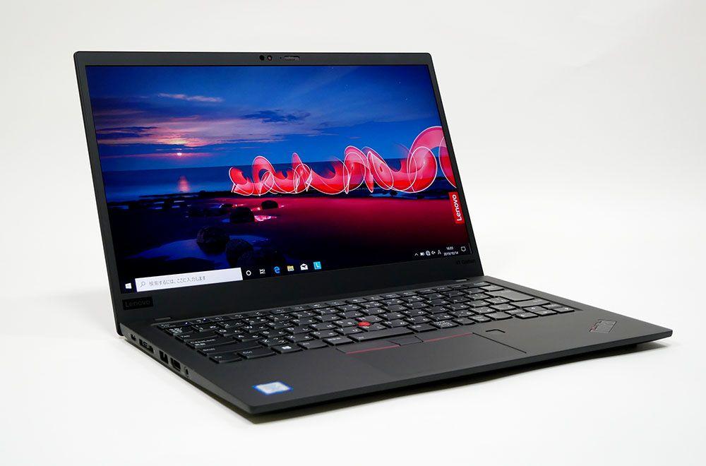 レノボ ThinkPad X1 Carbon (2019)の外観 見映え