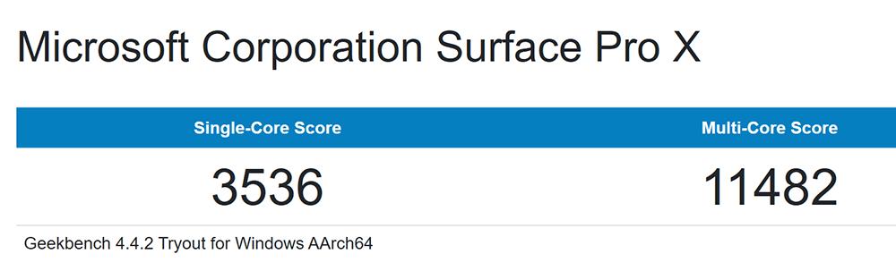 Geekbench 4:シングル:3536、マルチ:11482