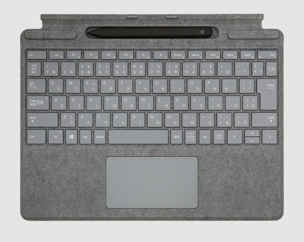 スリム ペン付き Surface Pro X Signature キーボード アイスブルー