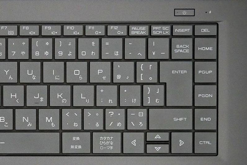 マウスコンピューター mouse X5-Bのキーボードの右側