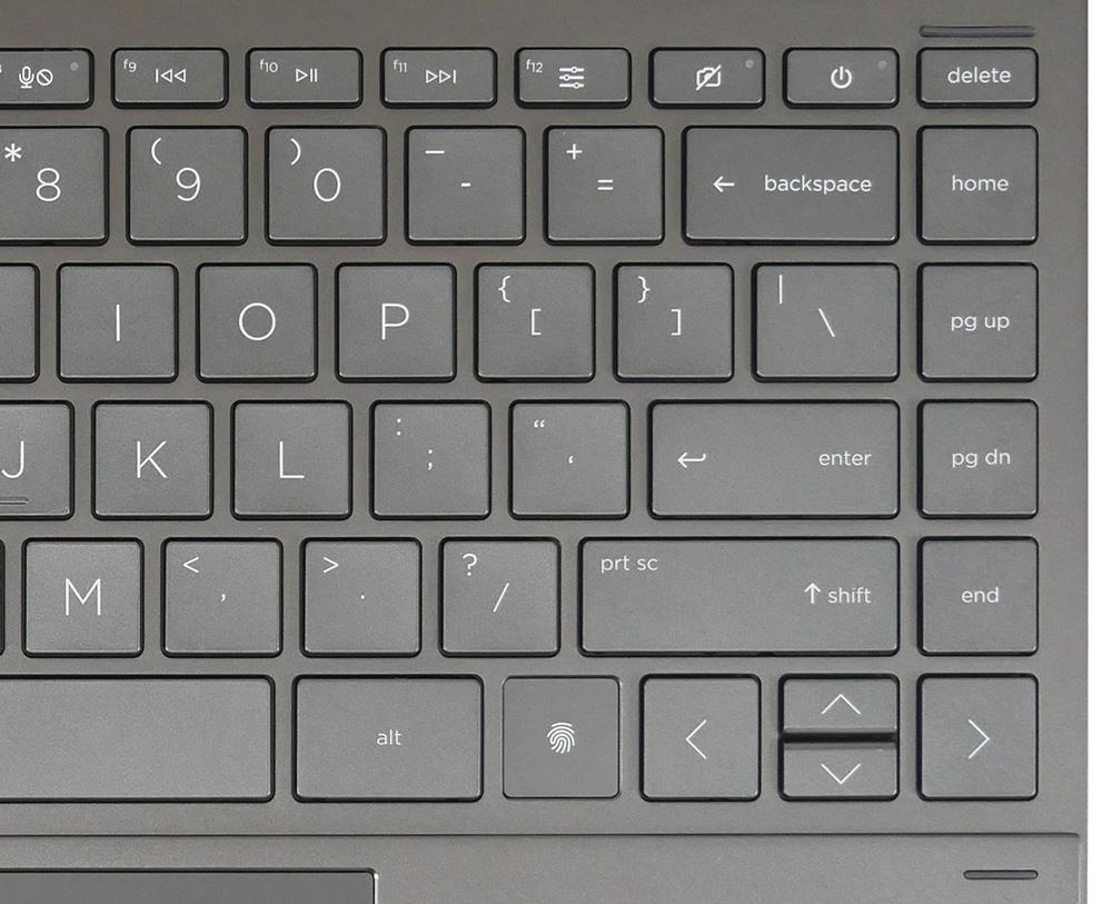 ENVY x360 13のキーボードの右側