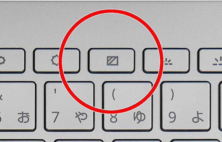 プライバシースクリーンのボタン