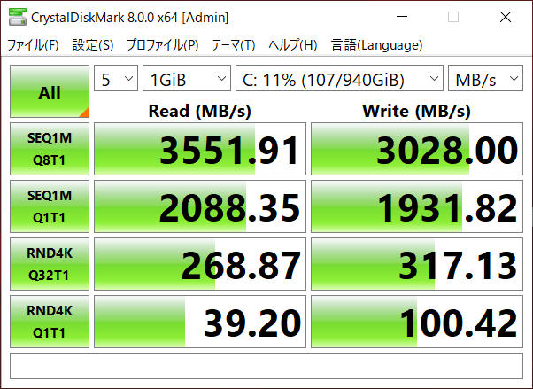 SSDのデータ転送速度