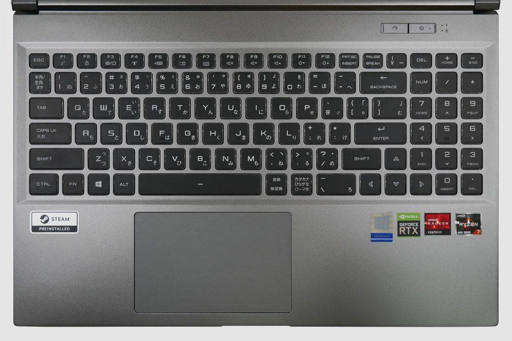 ガレリアGR2060RGF-Tのキーボード