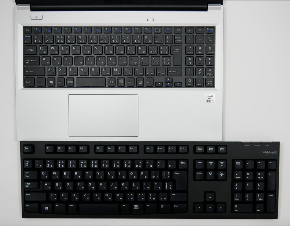 デスクトップPC用キーボードとの比較