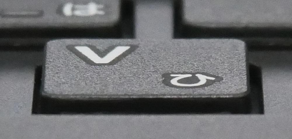 キートップのアップ画像