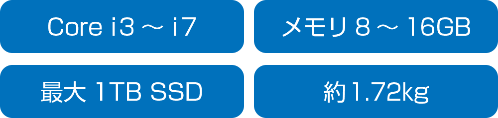 ダイナブック dynabook FZシリーズのスペック
