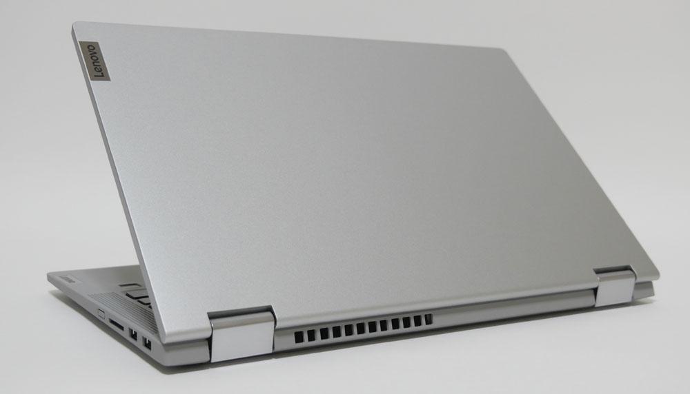IdeaPad Flex 550 14型 (AMD)の外観 天板側から斜め上