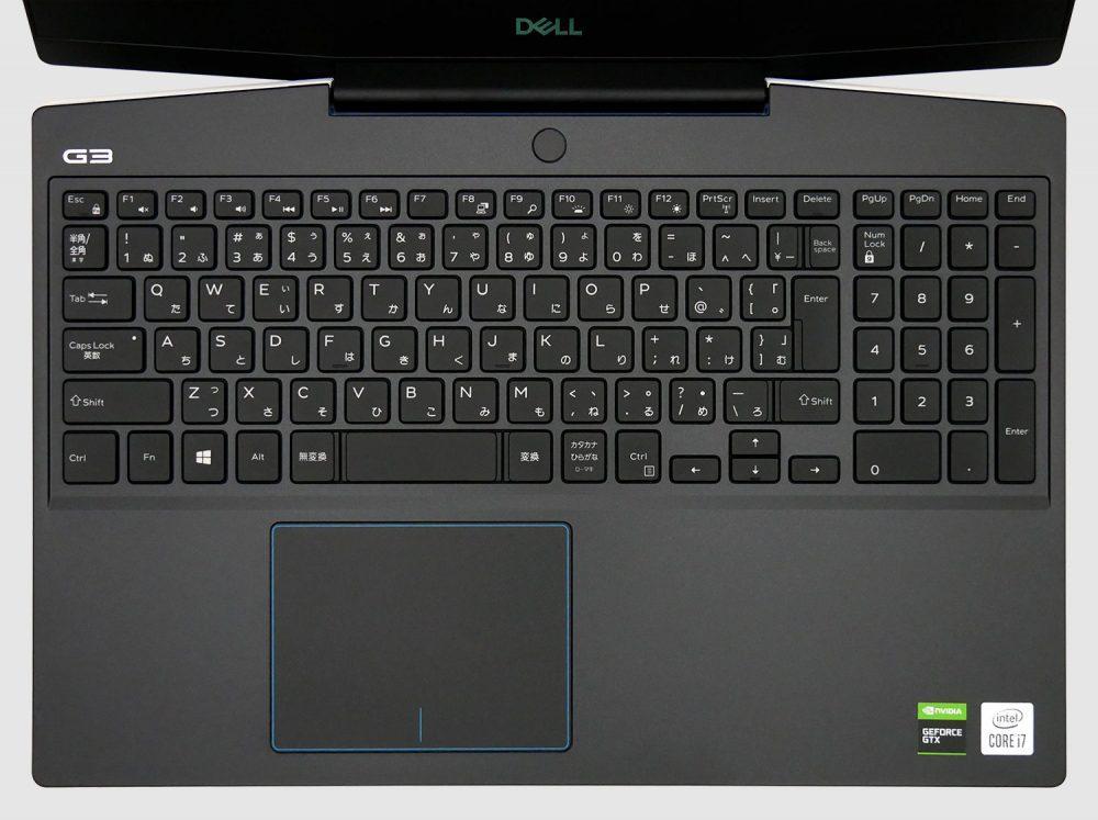 Dell G3 15 (3500)のキーボード