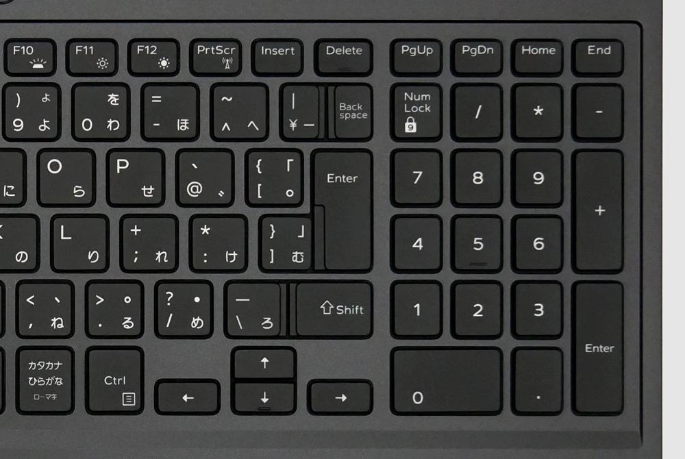 Dell G3 15 (3500)のキーボードの右側